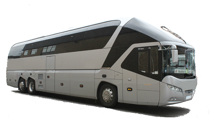 Europe 45 seater motor coach bus rental, hire with a driver