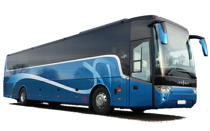 Europe 53-seater motor coach bus rental, hire with a driver