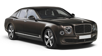 London Bentley Mulsanne VIP luxury sedan car rental, hire with a driver