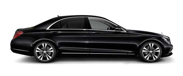 London Mercedes Benz S-class luxury sedan car rental, hire with a driver