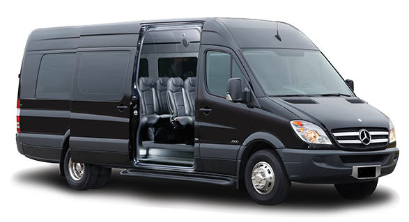 London Mercedes Sprinter luxury passenger minibus rental, hire with a driver