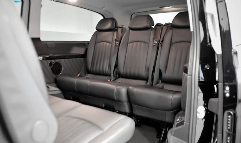 London Mercedes Benz Viano luxury minivan interior