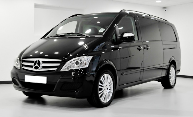London Mercedes Benz Viano luxury minivan front view