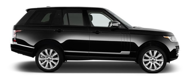 London Range Rover luxury SUV rental, hire with a driver